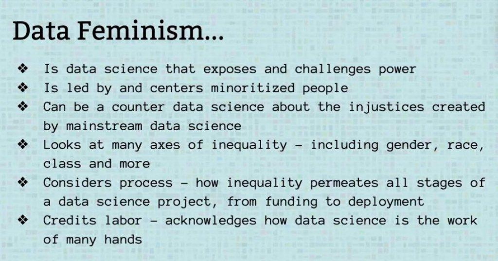 DATA FEMINISM IS